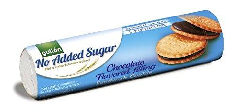 GULLON No Added Sugar Chocolate Cream Sandwich Cookie 250g (Pack of 4) ()