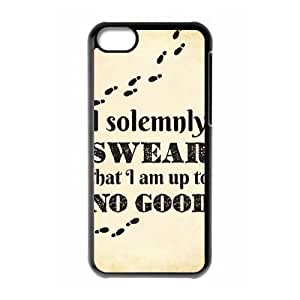 iphone5c Cover (Black) ,iphone5c phone case for harry potter quotes - 1582522272