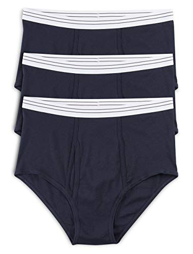 Harbor Bay by DXL Big and Tall Color Briefs, Navy 2XL, Pack of 3 ()