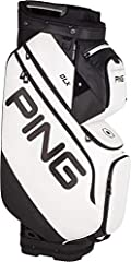 Maximize convenience during your next cart outing with the Ping DLX cart bag. A large 15-way top with full-length dividers and dedicated PUTTER well allows for meticulous Club organization. 15 pockets – including an Oversized Apparel pocket a...