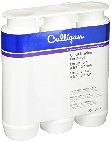 Culligan US-3UF-R Ultra Filtration Under Sink Drinking Water System Replacement 2CT 3Stag WTR Cartridge, 9.25 x 8.11 x 2.60 inches, White (Us Replacement)