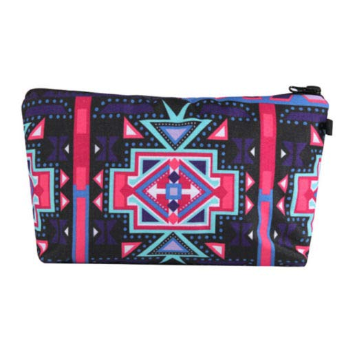 Unique Cosmetic Makeup Bag 3D Printed Women Travel Cosmetic Organizer Case S (Main style - 1#) ()
