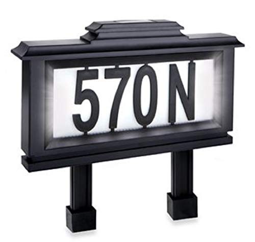 Merchsource Solar-Powered Lighted Address ()
