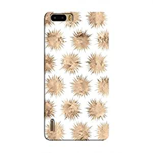 Cover It Up - Sand Star White Honor 6 Plus Hard Case