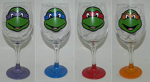 Teenage Mutant Ninja Turtles wine glass set of 4]()