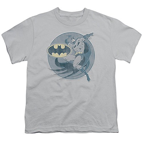 Batman+Retro+Shirts Products : DC Comics Retro Batman Iron On Faded Big Boys Youth T-Shirt