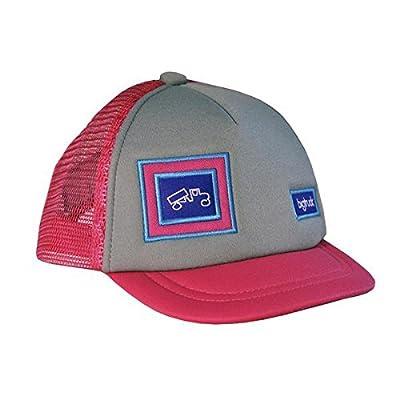 bigtruck Original Baby Mesh Snapback Trucker Hat, Grey/Pink from bigtruck