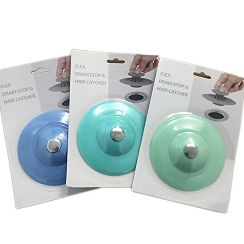 3 piece push type drain stopper