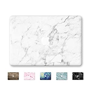 """DoBeShop Mac Decal Vinyl Skin Sticker Cover Anti-Scratch Decal For Apple Macbook (MacBook Pro 13""""/Inch Retina(A1425,A1502), White Marble)"""