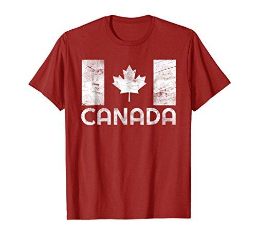 Vintage Canada Flag Shirt Canada Day