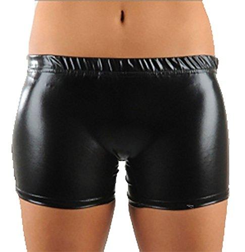 S Dance Black Fashions Look XL Womens Shiny Stretchy Hot bagnato Islander Pantaloncini Ladies Wear Pants Party Metallic 6qwdWav