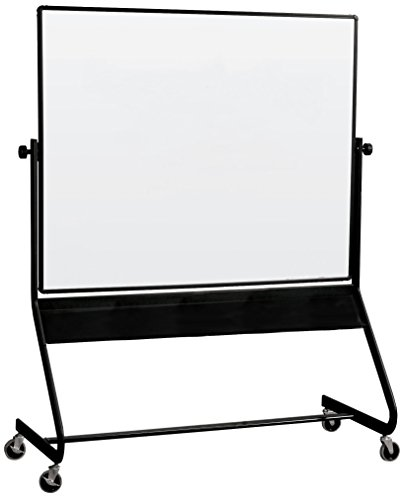 Best-Rite Euro Reversible Mobile Whiteboard, Porcelain Markerboard Both Sides, Panel Size 4 x 6 Feet - Best Combination Rite Marker