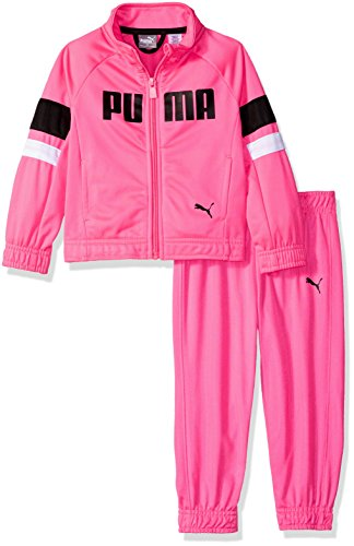 - PUMA Girls' Toddler Tricot Track Set, Knock Out Pink, 4T