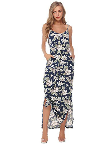 Sykooria Women's Casual Dress Nightgown Camisole Sleeveless Full Slip Chemise Night Dress