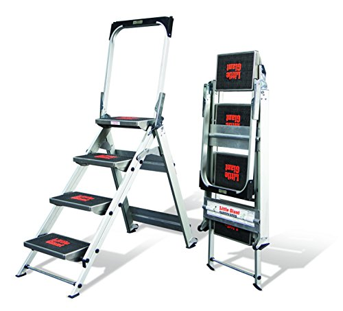 Little Giant Ladder Systems 10410BA Safety Step Ladder Four Step with Bar, 2 x 11-Inch by Little Giant Ladder Systems (Image #2)