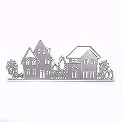 Amazon Sodial House Style Embossing Cutting Dies Stencil Stamps