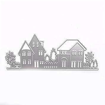 TOOGOO Molde de Corte de Estampado de Estilo de la casa Sellos de Plantilla para DIY
