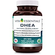 Vita Essentials Dhea 25 Mg Veggie Capsules, 180 Count