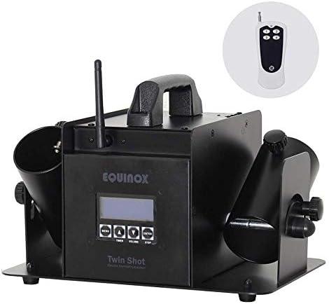 Equinox Twin FX Shot Konfetti-Kanone, kabellos, DMX-Kontrolle, elektrisches Konfetti