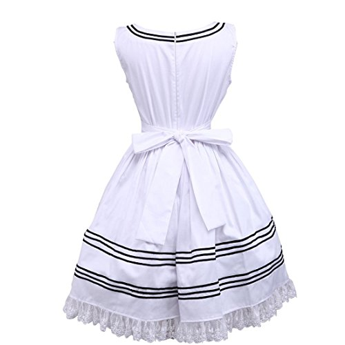 knielanges Sweet Weiß Kleid Lovely Damen Prinzessin Suess Partiss Cosplay Lolita n6vY1wqW