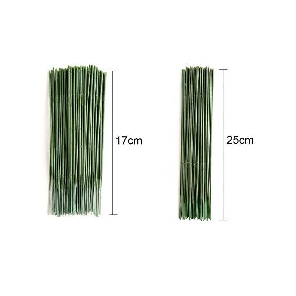 YOTHG-100-x-Green-Flower-Sticks-Artificial-Flowers-Bouquet-Plant-Support-Stick-Plastic-Flower-Rod-Gardening-Stem-Wire-Floral-Wire-for-Tulip-Bridal-Wedding-Bouquet-Party-Floral-Decor