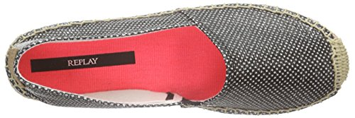 Catalina REPLAY Espadrillas Schwarz Donna Basse Nero 3 Black 14Txq4w