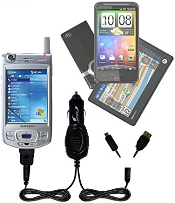 Charges up to 2 Devices simultaneously TipExchange Technology Gomadic Double Port Micro Car//Auto DC Charger Suitable for The Samsung SGH-T639