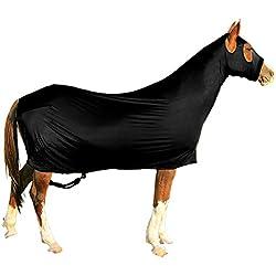 Derby Originals Lycra Full Body Horse Sheets with Neck Cover, Black, Medium