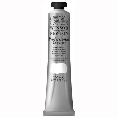 Winsor & Newton Professional Acrylic Color Paint, 200ml Tube, Titanium White