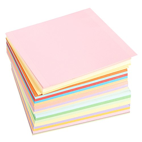 500 Sheets Double Sided Origami Paper Special Economy Pack - Origami Sheets Folding Paper, 20 Assorted Colors, 25 Pieces of Each Color for Arts and Crafts Projects - 6 x 6 Inches Square Sheets - 25 Sheet Pack