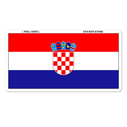 Croatia Croatian Flag car bumper sticker 5