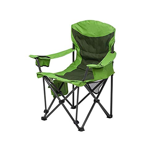 GLZDY Green Camping Comfortable Backrest Chair, Simple Leisure Chair Outdoor Portable Folding Chair - 91 × 63 × 106cm