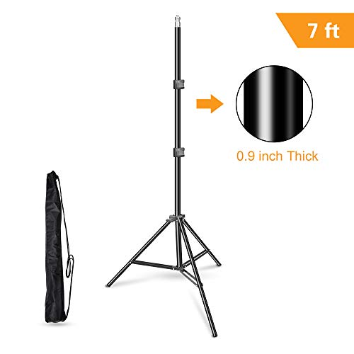 Emart 83 inch/7feet/210cm Photography Photo Studio Light Stand for Video Lighting, Softbox, Umbrella, Ring Light, Camera, Flash, Carry Case Include]()