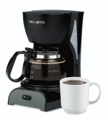 Mr. Coffee DR5 4-Cup Coffeemaker, Black