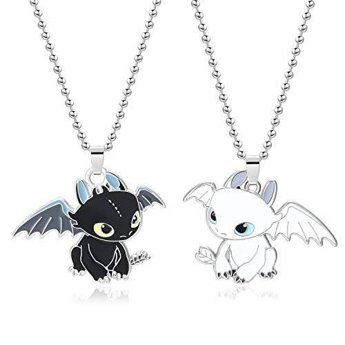 - XOFOAO How to Train Your Dragon Toothless Charm Necklace Single-Sided Cosplay