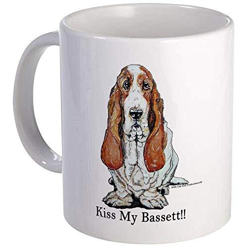Bassett Hound Kiss Mug - Ceramic 11oz Coffee/Tea Cup Gift Stocking Stuffer ()