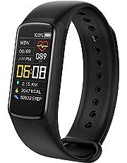 Fitness tracker,Smartwatch,Fitness & Activity Tracker met Hartslag/Bloeddruk/Zuurstof- en Slaapmonitor,Calorieteller,IP67 Waterdicht,Kleurendisplay Fitness Horloge Activity Tracker