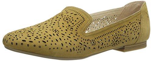 Caprice 24501, Mocasines para Mujer Amarillo (Saffron Suede)