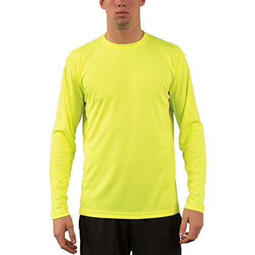 Vapor Apparel Men's UPF 50+ Sun Protection Performance Long Sleeve T-shirt X-Large Safety Yellow - Long Sleeve Running Tee