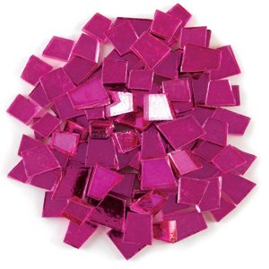 Mosaic Mercantile Colored Mirrors, 1/2-Pound, Magenta -