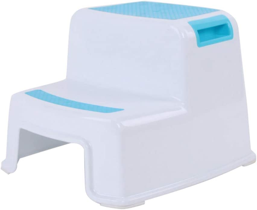 STARmoon 2 Step Stool Toddler Kids Stool Toilet Potty Training Slip Resistant for Bathroom Kitchen Blue