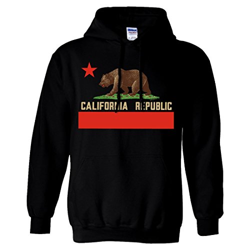california republic bear flag sweatshirt hoodie black