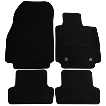 JVL Fully Tailored 4 Piece Car Mat Set with 2 Clips 3116