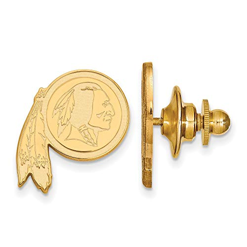 Kira Riley Gold Plated Washington Redskins Lapel Pin ()