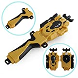 Bay BeyLauncher Battling Top Launcher LR (Left & Right Turning) & Grip Tool Compatible with Takara Tomy Beyblade Burst Combat Gyro Battle High Performance Spinning Top Gyroscope Toy(Gold)