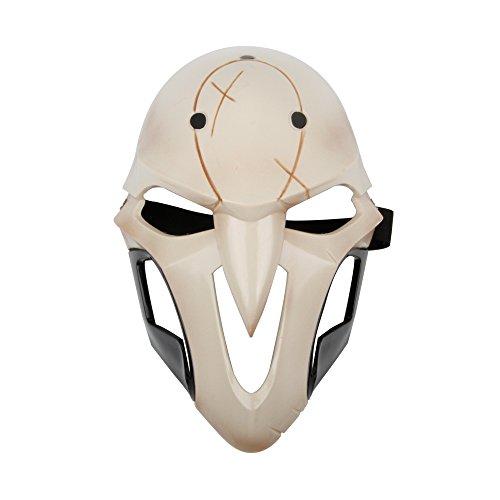 Overwatch Reaper Costume (GoldenLeaf Overwatch Reaper Gabriel Reyes Plastic Cosplay Mask)