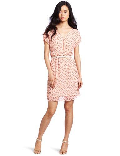 Gabby Skye Women's Capelette Front Sleeveless ITY Dress