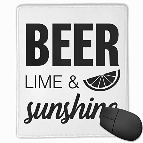 (Kjiurhfyheuij Portable Gaming Mouse Pad Beer Lime Sunshine Comfortable Non-Slip Base Durable Stitched Edges for Laptop Computer & PC 7.08 X 8.66 Inch, 3mm Thick)