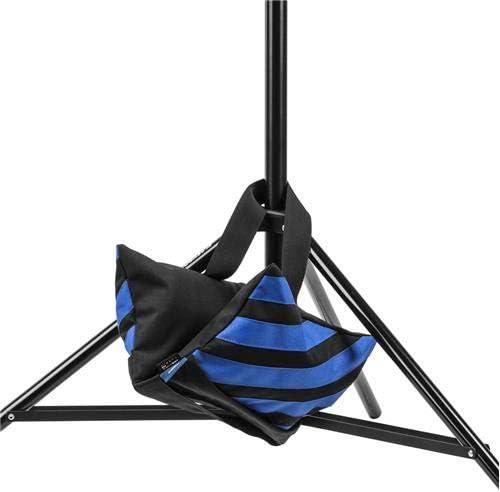 Water-Resistant Cordura Nylon 18 lb Capacity, Blue /& Black Stripes Flashpoint Empty Saddle Sandbag