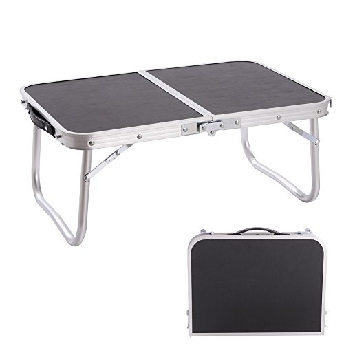 CampLand Aluminum Small Folding Table Outdoor Lightweight Portable for Camping, Beach, Backyards, BBQ, Party and Picnic